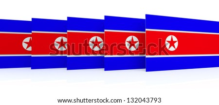 North Korean Flag 3D