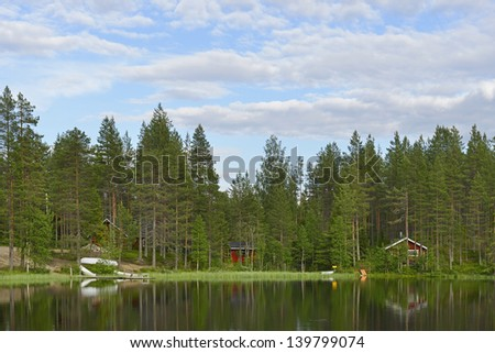 North Lake. Finland, Lapland - stock photo