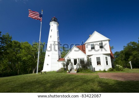 North Point Lighthouse - stock photo