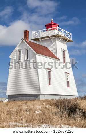 North Rustico lighthouse in the town of North Rustico, Prince Edward Island, Canada.