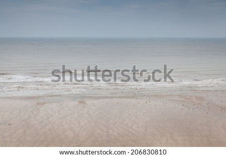 North Sea seen from Bridlington, UK. - stock photo