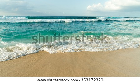 North Shore Oahu Hawaii Bonsai Pipline Pacific Ocean United States - stock photo