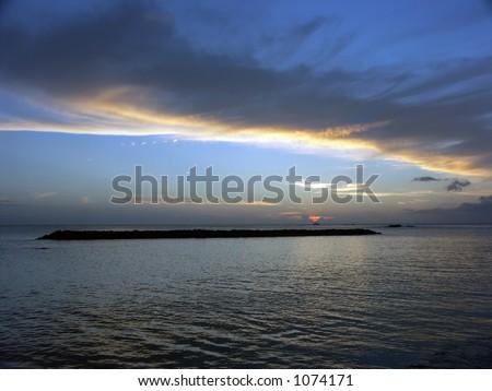 North Shore Sunset - stock photo