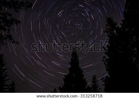 North Star - Star trails