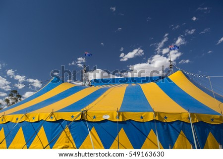 NORTHAM, AUSTRALIA - November 26 2016: The local circus is doing the tournament show in western australia.