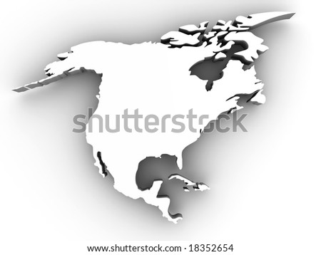 Northern America. 3d - stock photo