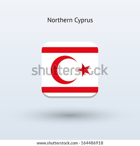Northern Cyprus flag icon.  - stock photo