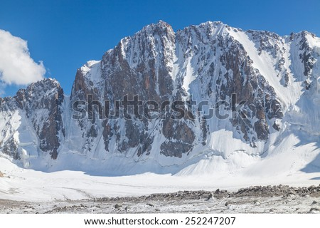 Northern face of Free Korea Peak, Ala Archa National Park (Kyrgyzstan)