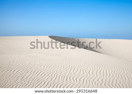 Northern Fuerteventura, Canary Islands, nature reserve Dunes of Corralejo - stock photo