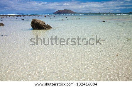 Northern Fuerteventura, Corraejo Flag beach, low tide