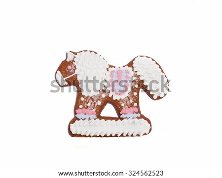 northern gingerbread kozula in form of horse