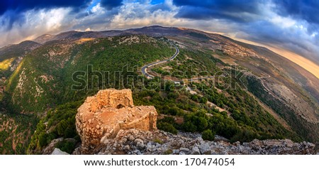 Northern Golan Heights, Israel - stock photo