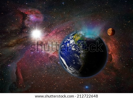 "northern light""Element s of this image furnished by NASA ""  - stock photo"