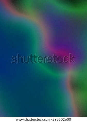 Northern lights - abstract art - stock photo