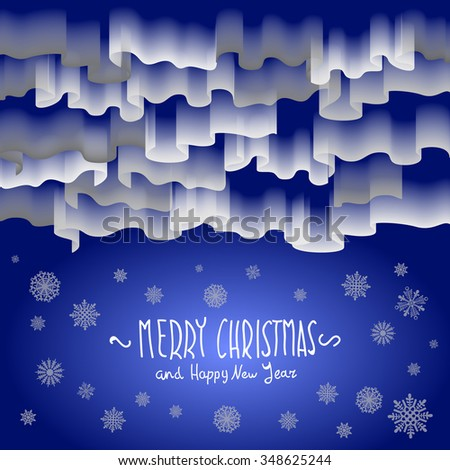 Northern lights. Abstract background art merry christmas - stock photo