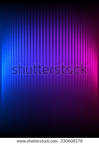 Northern lights background of bright glowing blur lines. Futuristic style glow neon disco club or night party. Gorgeous graphic image template