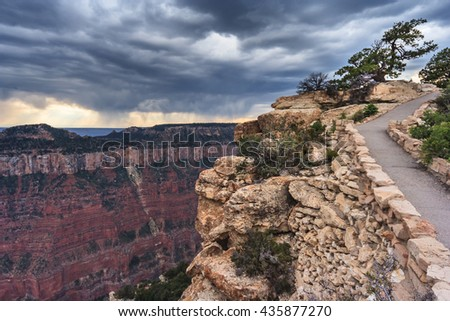 Northern Rim of Grand Canyon from Cap Royal and Walhalla Overlook, Arizona, USA - stock photo