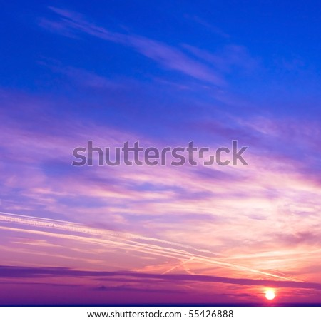 Northern Sunset - stock photo
