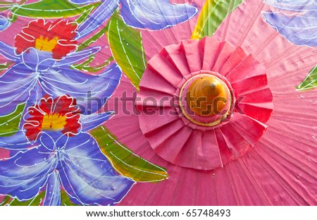 Northern Thailand Traditional Umbrella - stock photo