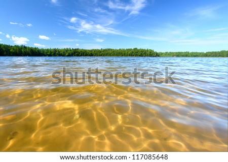 Northwoods Wisconsin Lake - stock photo
