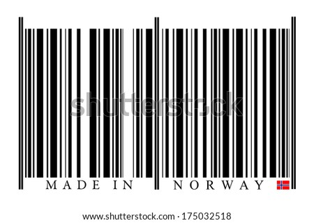 Norway Barcode on white background