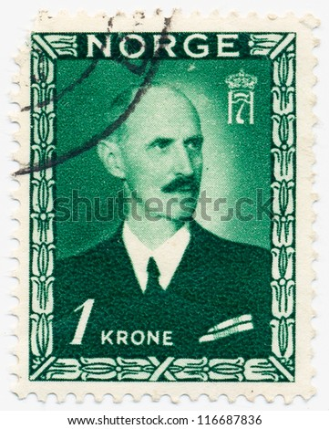 NORWAY CIRCA 1946 Stamp Printed Norway Stock Photo Edit Now
