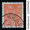 NORWAY - CIRCA 1964: A stamp printed in the Norway, shows Boatswain's knot, circa 1964 - stock photo