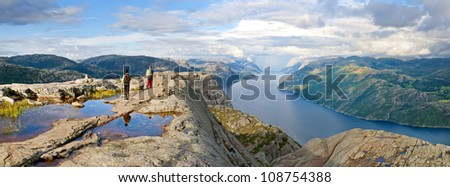 Norway fjord landscape - stock photo