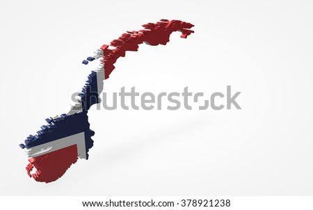 Norway flag 3d perspective view isolated