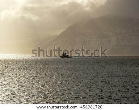 Norway Landscape in Winter - stock photo