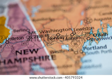 Macro Globe Map Detail France Stock Photo Shutterstock - Norway to usa map