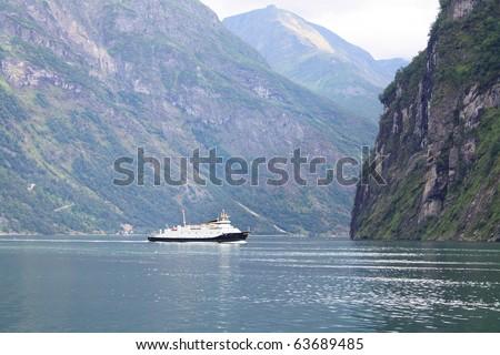 Norway sea ship - stock photo
