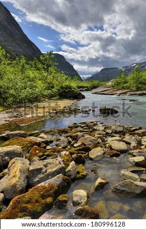 Norway, stunning landscape - stock photo