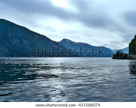 Norway-view of the Geirangerfjord from Stranda