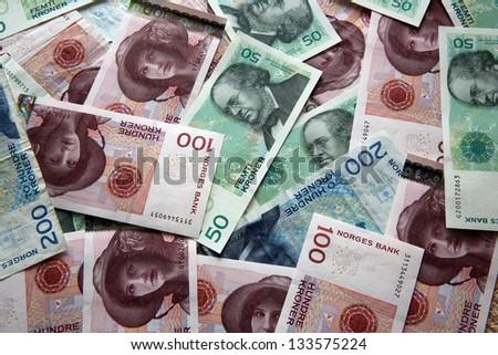 Norwegian Currency - stock photo