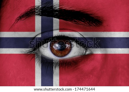 Norwegian flag eye