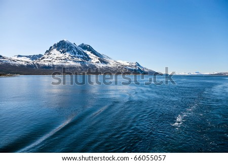 Norwegian rocky coast landscape - stock photo
