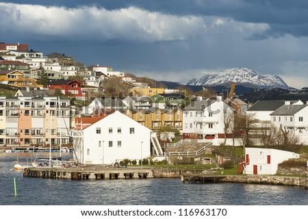 Norwegian town Kristiansand - stock photo