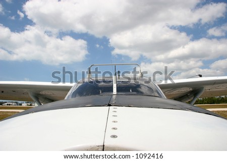 nose of a high wing airplane