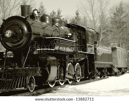 nostalgic Steam engine in sepia