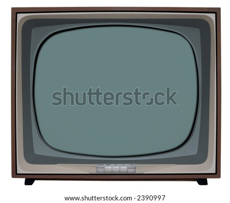 Nostalgic TV with clipping path inside and outside