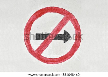 Not Allowed Sign. Grunge hand drawn symbol - stock photo