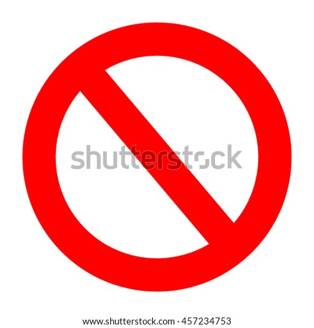 Not Allowed sign symbol on white background.