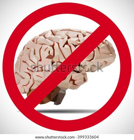 not brain - stock photo