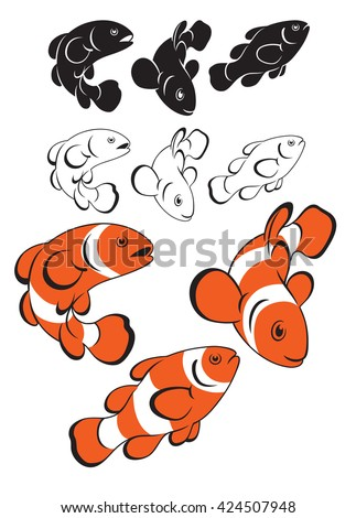 not figure shows clown fish - stock photo