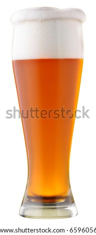 Not filtered beer; object on a white background
