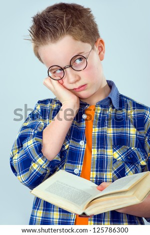 not to be in the mood for reading - stock photo