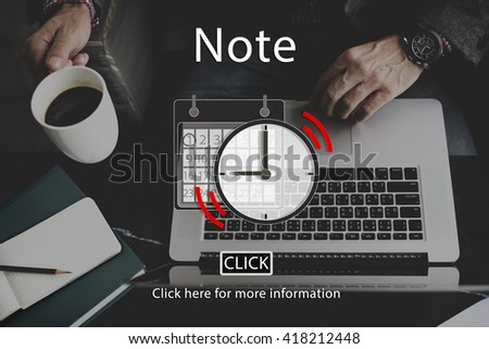 Note Appointment List Organizer Plan Reminder Concept - stock photo