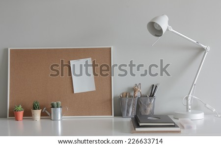 Note Board on working table. - stock photo