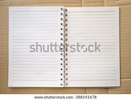 note book  background - stock photo